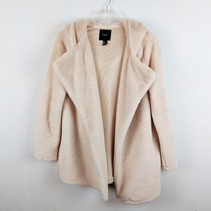 Forever 21 Cream Blush Pink Fuzzy Jacket